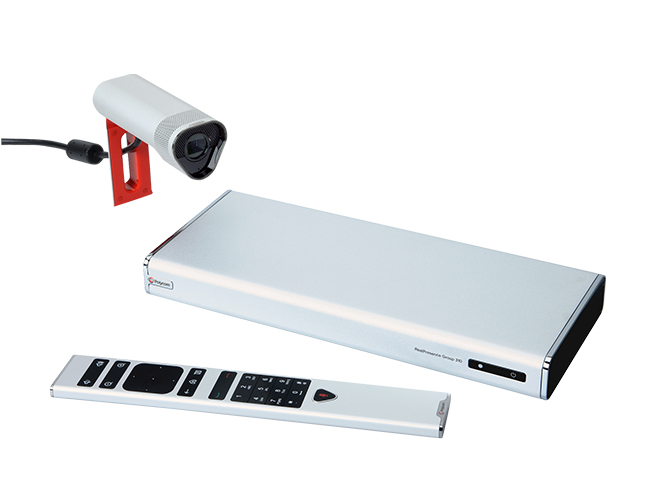 Polycom RealPresence Group300 met EE Acoustic camera